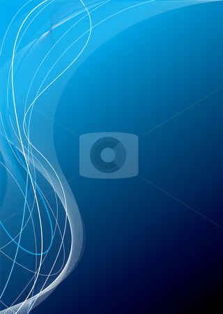 Blue tangle glow stock vector clipart, Abstract background in different shades of blue with copy space by Michael Travers