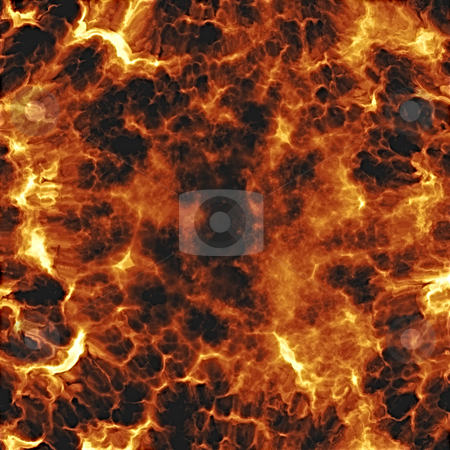 Fiery explosion stock photo, Rendererd illustration of fiery explosion and flames texture by Kheng Guan Toh