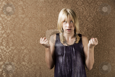Indecisive pretty young girl  stock photo, Pretty young girl making a big decision by Scott Griessel