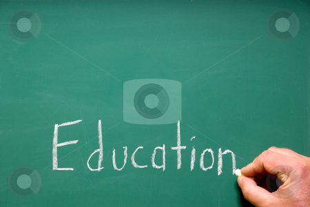 Education stock photo, A chalkboard representing the educational school system. by Robert Byron