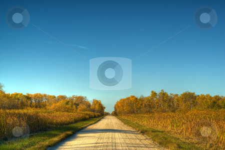 Rural Road stock photo, A gravel rural road running through the country side, done in HDR by Richard Nelson