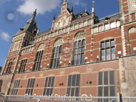 Amsterdam Central Station in Netherlands stock photo,  by Ritu Jethani