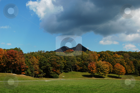 Storm coming stock photo, Clouds moving in the ruin a fall day in the mountains of North Carolina by Tim Markley