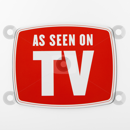 As seen on TV. stock photo, As seen on TV sign. by Iofoto Images