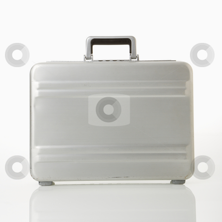 Briefcase. stock photo, Silver metal briefcase. by Iofoto Images
