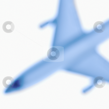 Blurred toy plane. stock photo, Blurred model jet airplane. by Iofoto Images