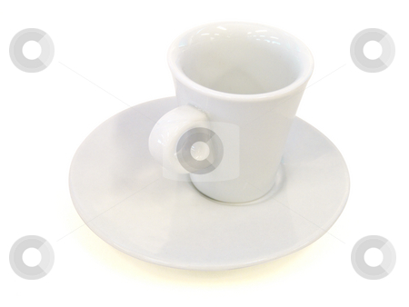 Porcelain cup isolated on white - Path inclued