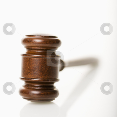 Gavel. stock photo, Selective focus of wooden gavel. by Iofoto Images