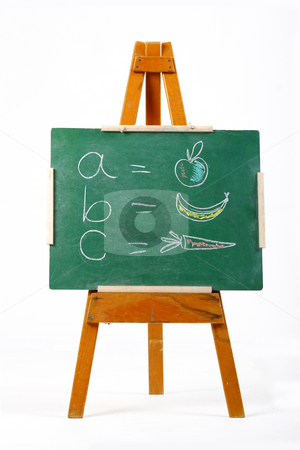 Learning the alphabet stock photo, Learning the alphabet on a chalk board by Mark Yuill