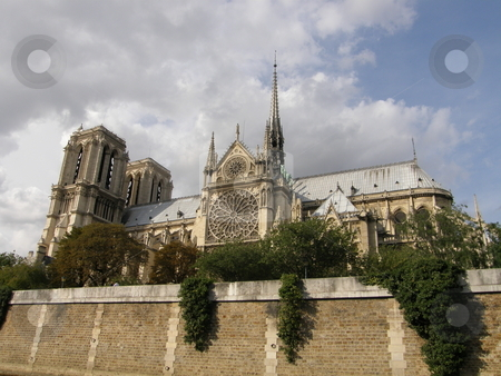 Notre Dame Cathedral in Paris, France stock photo,  by Ritu Jethani