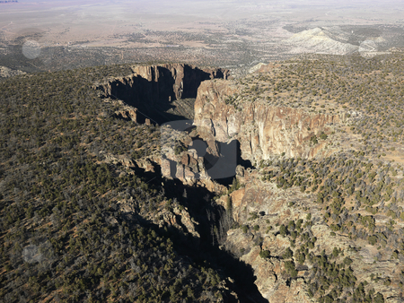Arizona desert aerial. stock photo, Aerial landscape in southwest Arizona desert. by Iofoto Images