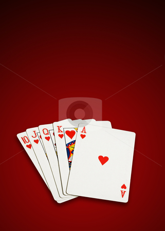Four aces stock photo, Four aces, poker cards on white background, isolated, clipping path excludes the shadow. by Pablo Caridad