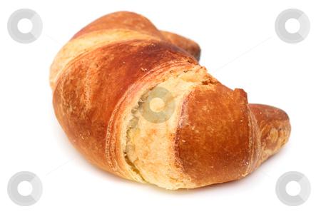 Italian brioche or french croissant stock photo, Italian brioche (french croissant) isolated over white by Natalia Macheda
