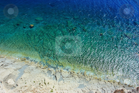 Wild tropical beach stock photo, Remote tropical beach from above by Natalia Macheda