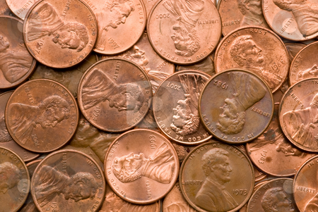 Macro of Penny stock photo, Macro of Penny suitable for a background by Vince Clements