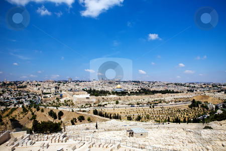 View on Jerusalem stock photo, View of Jerusalem from Olive Mountain, Israel by Vitaly Sokolovskiy