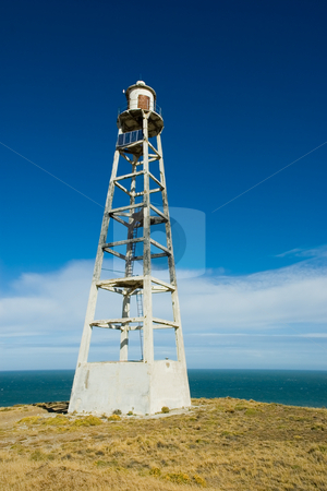 Old lighthouse in the coast of Patagonia, southern Argentina. stock photo, Old lighthouse in the coast of Patagonia, southern Argentina. by Pablo Caridad