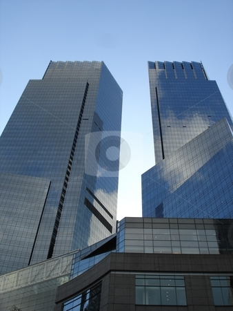Time Warner Towers in New York stock photo,  by Ritu Jethani