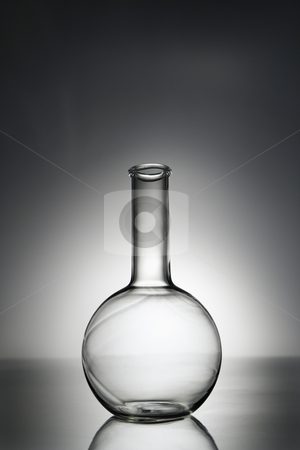 Laboratory equipment stock photo, Glass science container. by Iofoto Images