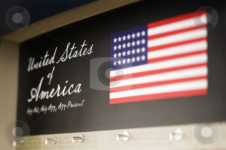 USA display. stock photo, United States of America display. by Iofoto Images