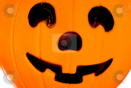 Jack-O-Lantern stock photo, A Jack-O-Lantern trick or treat bucket ready for Halloween. by Robert Byron