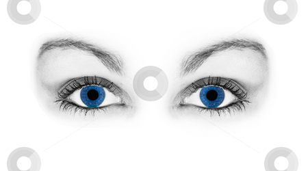 Blue eyes stock photo, Blue eyes by Flemming Jacobsen