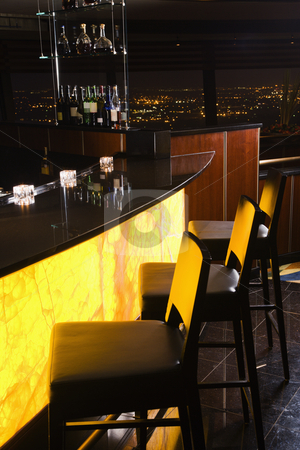 Interio shot of bar. stock photo, Interior shot of bar at the Tower of the Americas in San Antonio, Texas. by Iofoto Images