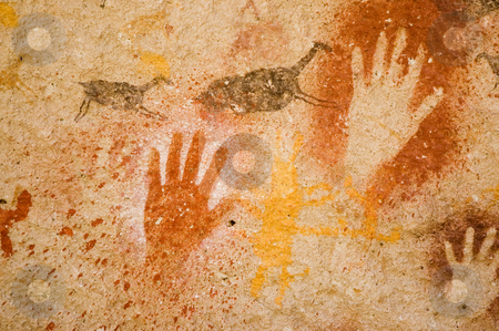 Ancient cave painting in Patagonia. stock photo, Ancient cave painting in Patagonia, Argentina by Pablo Caridad