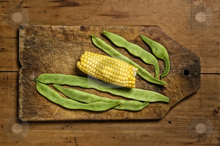 Corn and beans. stock photo, Corn and beans. by Pablo Caridad