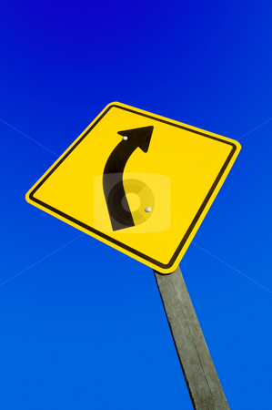 Road sign against a blue sky with clipping path. stock photo, Road sign against a blue sky with clipping path. by Pablo Caridad