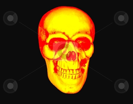 Blazing Skull stock photo, Blazing skull great for use with motorcycle clubs or mags. by CHERYL LAFOND