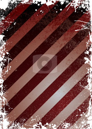 Grunge warning stock photo, Illustrated grunge effect red and black warning background by Michael Travers