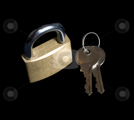 Savings stock photo, A padlock and a set of keys with money symbols on them by Richard Nelson