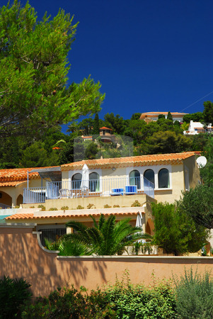 Gardens and villas on French Riviera stock photo, Lush gardens and villas on French Riviera by Elena Elisseeva