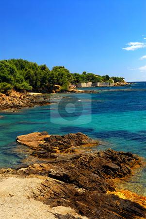 Mediterranean coast of French Riviera stock photo, Scenic view of Mediterranean coast of French Riviera by Elena Elisseeva