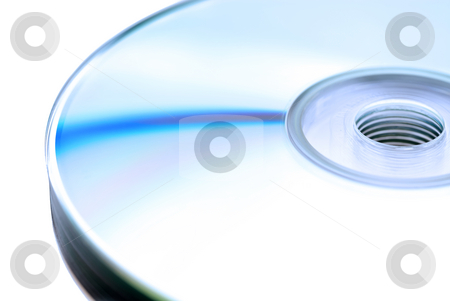 Closeup of a stack of compact disks stock photo, Closeup of a stack of compact disks by Vince Clements