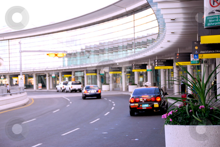 Terminal stock photo, Airport terminal with cars outside by Elena Elisseeva