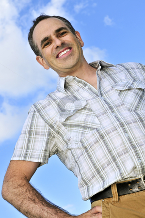 Happy man stock photo, Portrait of a happy smiling middle aged man by Elena Elisseeva