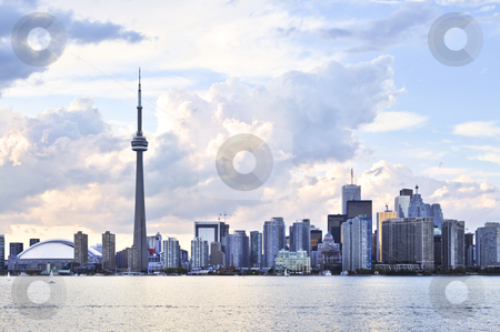 Toronto skyline stock photo, Toronto city waterfront skyline in late afternoon by Elena Elisseeva