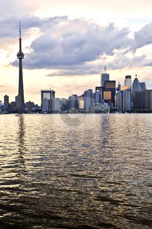 Toronto skyline stock photo, Scenic view at Toronto city waterfront skyline at sunset by Elena Elisseeva