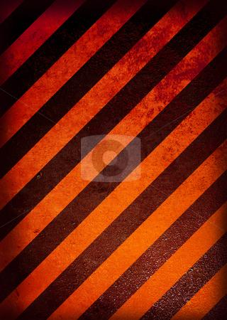 Alert warning grunge stock photo, Grunge black and orange warning background with grunge effect by Michael Travers