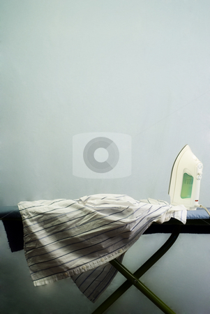 Ironing Board stock photo, An iron and ironing board with space for text above by Richard Nelson