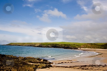 Sandy bay stock photo, A beautiful beach in a sandy cove by Norma Cornes