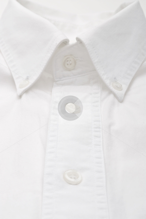 Close-up of a white dress shirt stock photo, Close-up of a white dress shirt by Vince Clements