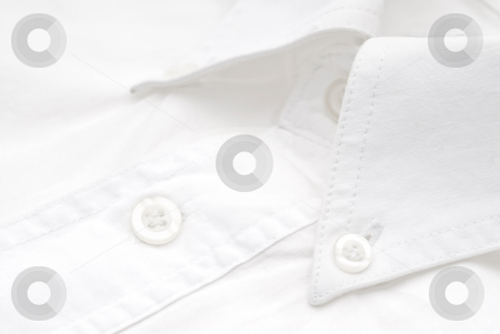 Close-up of a white dress shirt stock photo, Close-up of a white dress shirt by Vince Clements
