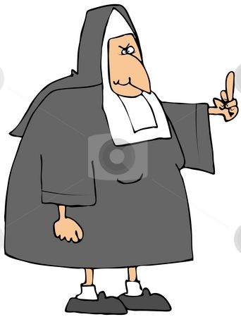 Angry Nun stock photo,  by Dennis Cox