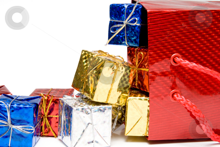 Christmas Presents stock photo, A pile of seasonal presents given during the Christmas season. by Robert Byron
