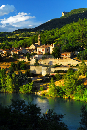 Town of Sisteron in Provence, France stock photo, Scenic view on town of Sisteron in Provence, France by Elena Elisseeva