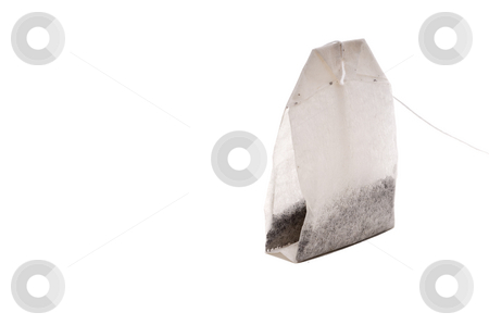Tea bag on white stock photo, Tea bag on white by Vince Clements
