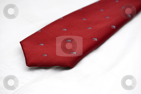 Macro of a necktie on a white shirt stock photo, Sfallow focus macro of a necktie on a white shirt by Vince Clements